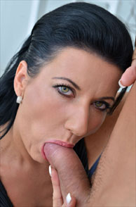 Pretty Eyes Milf Celine Noiret Giving Blowjob