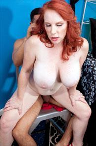 Big Tit Pale Redhead Milf Red Vixen Riding A Man